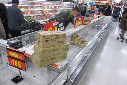 震災後のスーパー