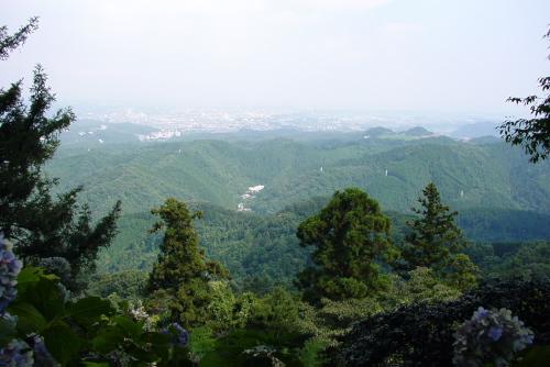 高尾山:山頂にて