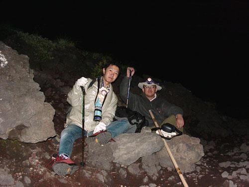 富士登山:新七合目