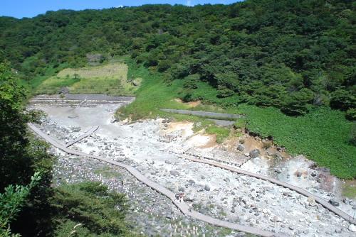 温泉神社から見下ろす殺生石