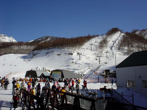 川場スキー場:いい天気だ