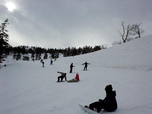 川場スキー場:寒い