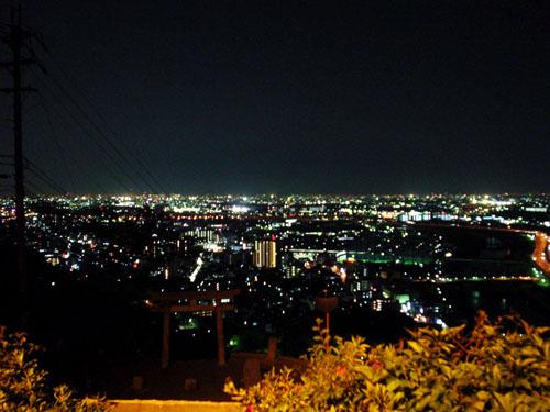 街の灯火が美しい