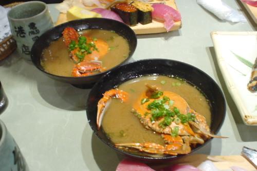 沼津港・魚がし鮨:かに汁