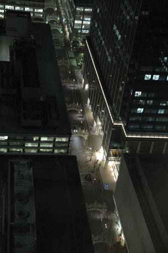 東京ミレナリオ:丸ビルからの眺め