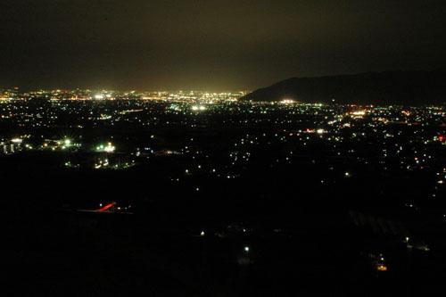 勝沼町ぶどうの丘からの夜景