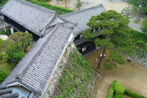 高知城:天守閣からの眺め