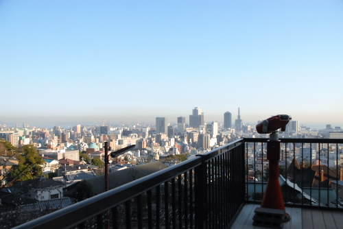 展望台より:神戸の町並みを一望できた