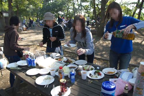 仕事仲間とBBQ ~多摩川中央公園
