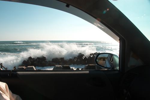 太平洋の荒波