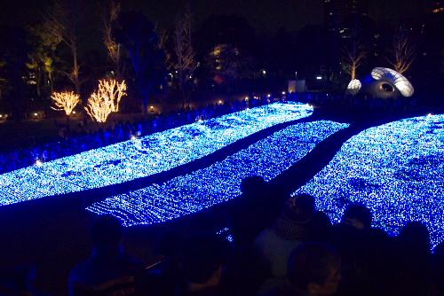 東京ミッドタウン、初めてのクリスマス