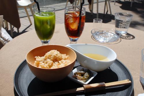 Cafe 茶酒のオープンテラス