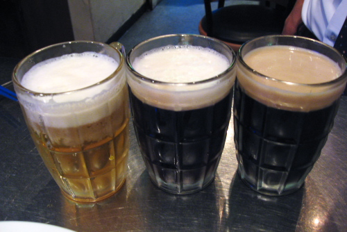 プレミアム(N)、ハーフ&ハーフ(H)、黒ビール(L)