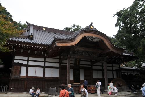 紅葉前の深大寺
