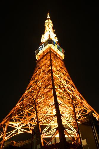 東京タワー開業50周年記念ライトアップ