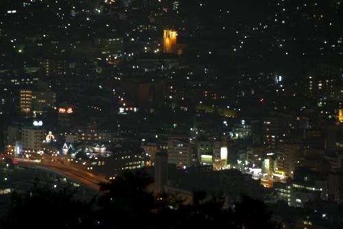 稲佐山から見た浦上天主堂