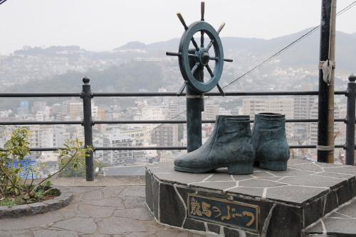 龍馬のぶーつ像