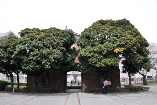 ぽつりと残された旧豊多摩監獄表門