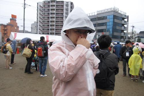 雨のファミリーウォーク川越大会