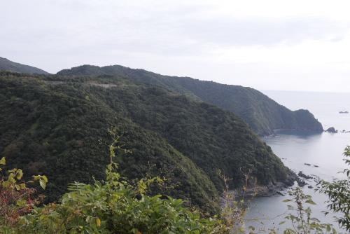横浪半島の太平洋側
