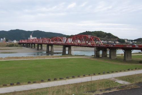 四万十川の赤鉄橋