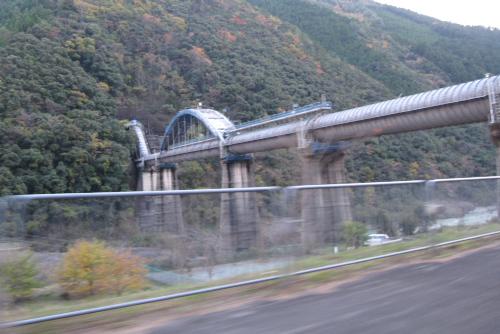 十津川第一発電所の水路橋