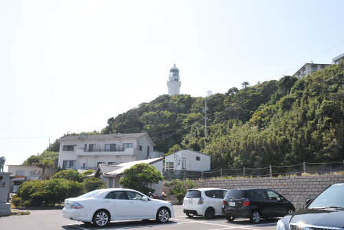 御前埼灯台と無料駐車場