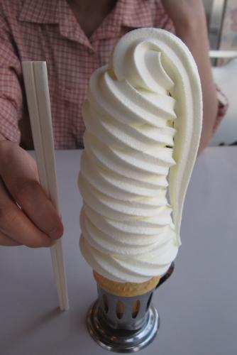 10段巻きのソフトクリーム