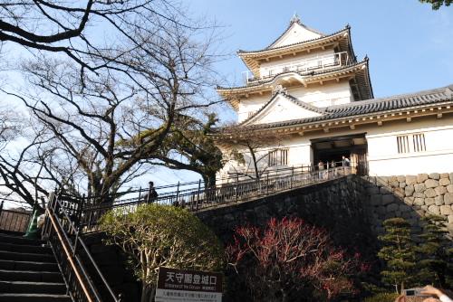 小田原城への階段