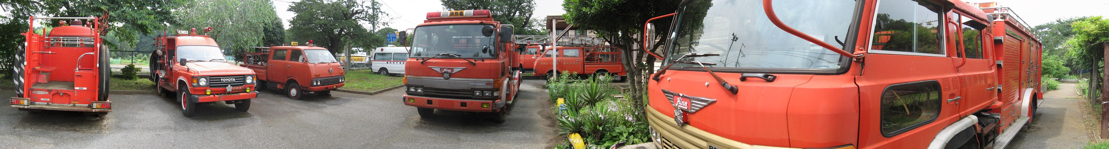 四街道市消防資料館:車両展示