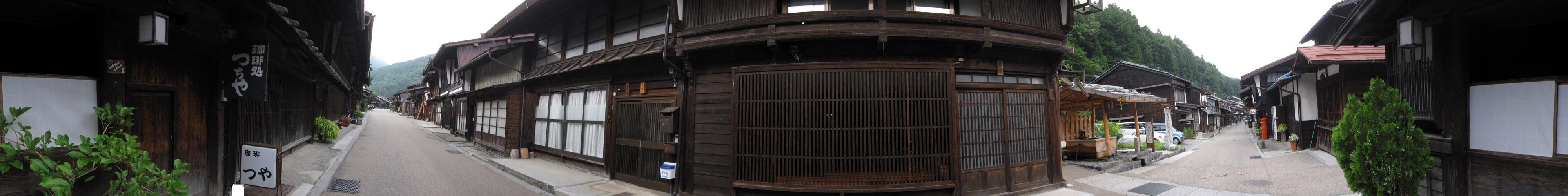 パノラマ:早朝の奈良井宿