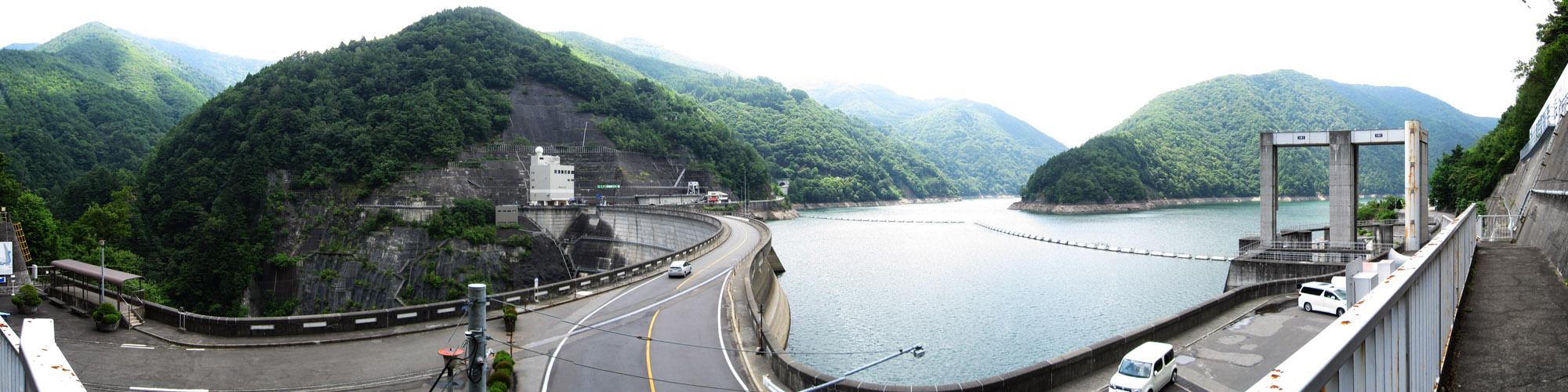 パノラマ:奈川渡ダム
