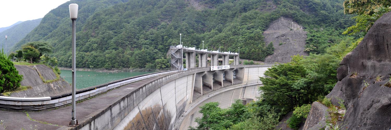 パノラマ:稲核(いねこき)ダム