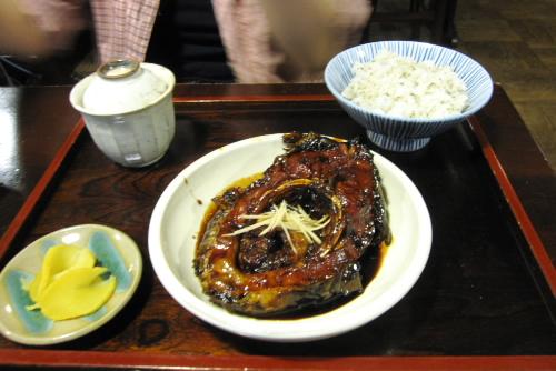鯉のうま煮定食