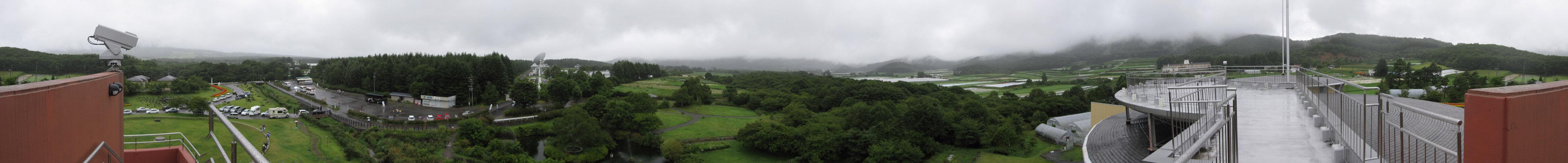 パノラマ:南牧村農村文化情報交流館からの眺め