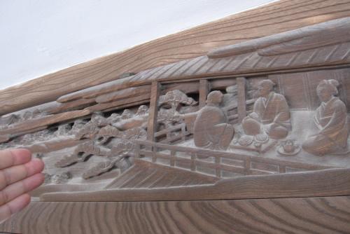 回廊の彫刻