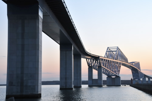 開通前の東京ゲートブリッジ