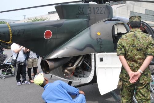 OH-6D 偵察・観測ヘリコプター の尾部