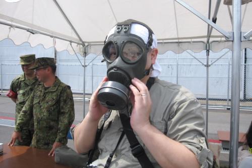 ガスマスクの機密性は高い