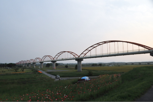 全長1キロを越える水管橋か