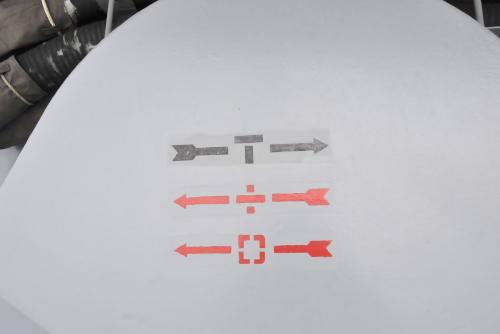 戦闘時(T)は右に、負傷した場合(+)、およびNBC攻撃がある場合([ ])は左へ