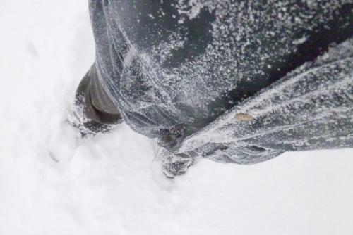 吉川:雪まみれ