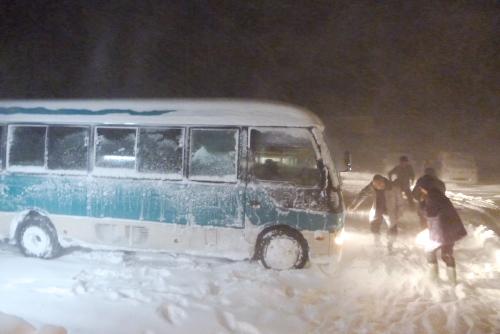 吉川:帰りは雪に阻まれ、難儀したらしい