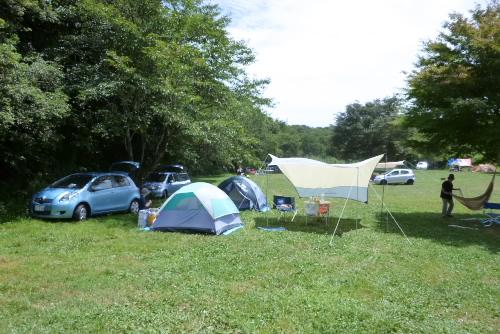 テント2張りとタープ、ハンモック