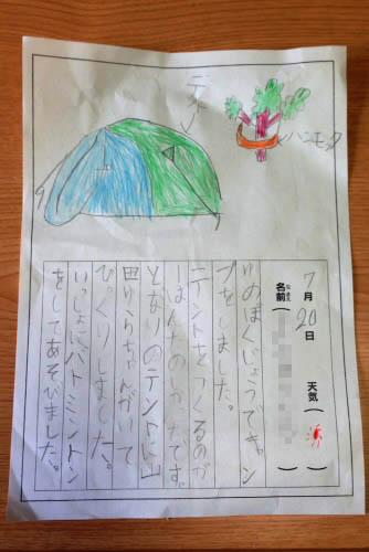 甥っ子の日記
