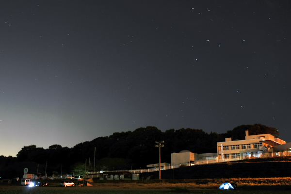 かわせみ河原の夜