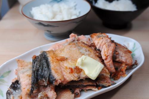 時鮭アラのバター焼き