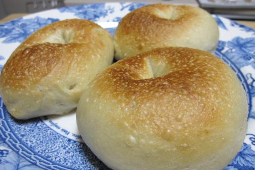 ベーグル5回目 - 低温発酵、焼き薄め