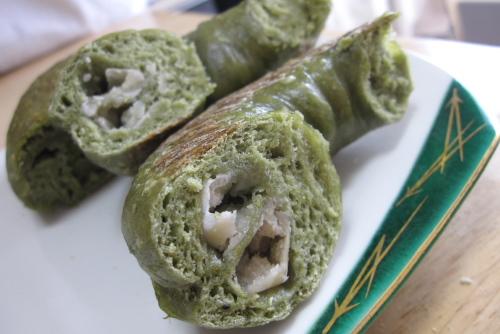 ベーグル7回目 - 抹茶&白花豆ベーグル