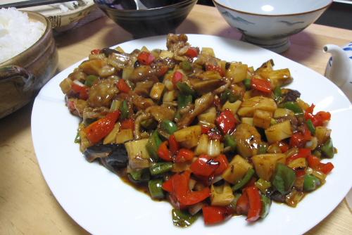 豚肉とレンコンの豆鼓炒め from Wiiの間クッキング